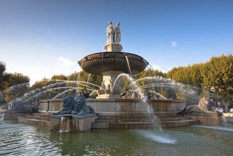 Fontana, Aix-en-Provence fotografie stock libere da diritti