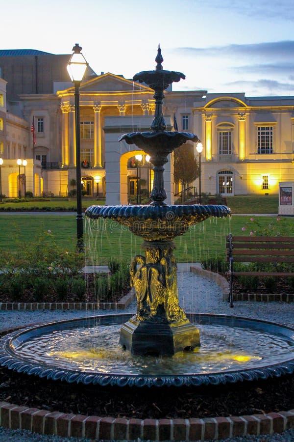 Fontana al centro di Gaillard, Charleston, Sc fotografia stock libera da diritti