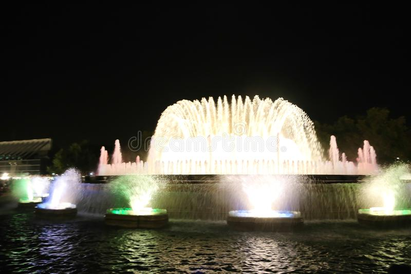 Fontana - Barcellona immagini stock
