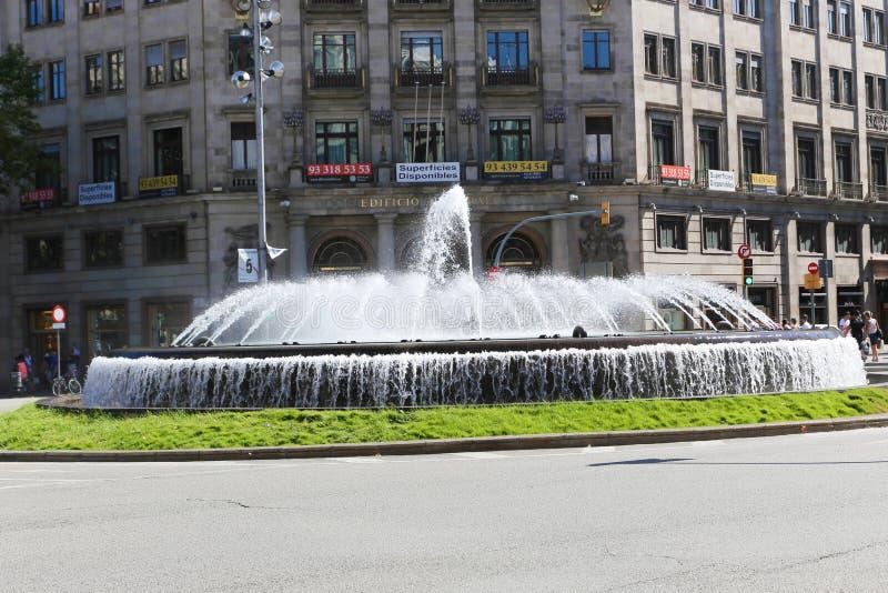 Fontana a Barcellona fotografie stock libere da diritti