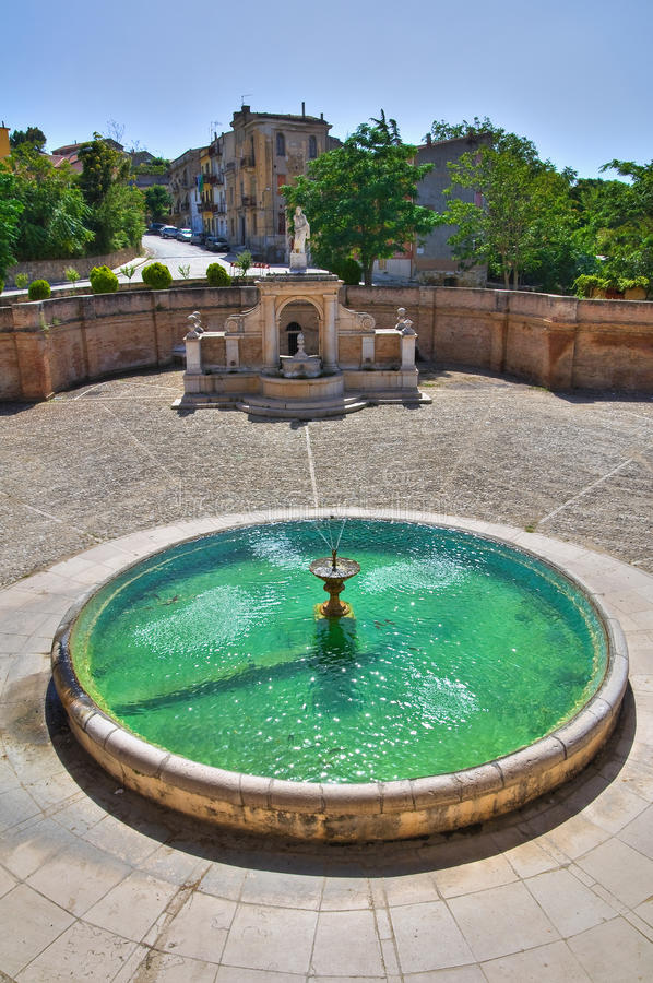 Fontana Cavallina Genzano di Lucania L'Italia fotografie stock