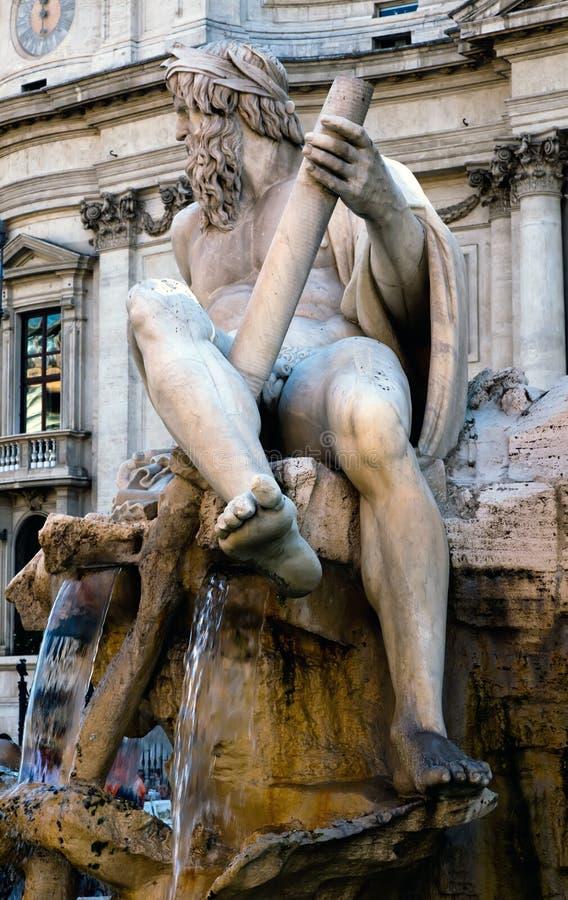 Fontana Dei Quattro Fiumi Stock Photo