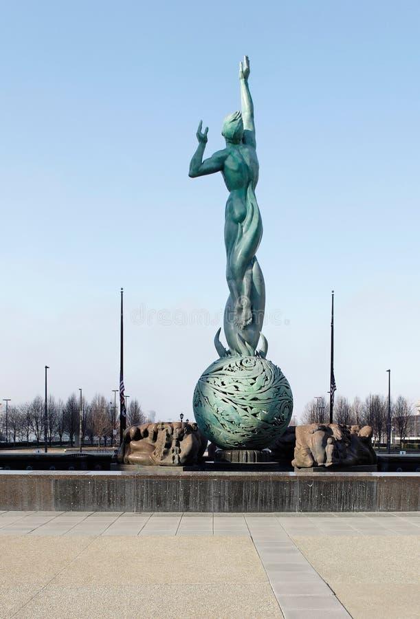 Fontana del memoriale di guerra immagini stock libere da diritti