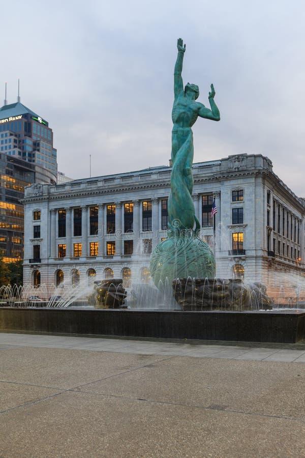 Fontana del memoriale di guerra, Cleveland, Ohio immagine stock libera da diritti