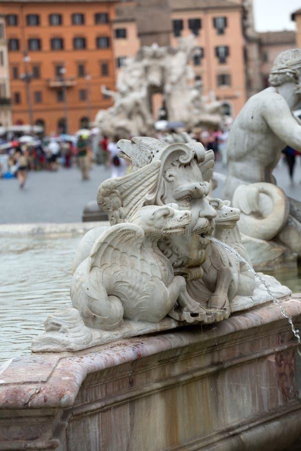 Fontana del Moro fotografía de archivo