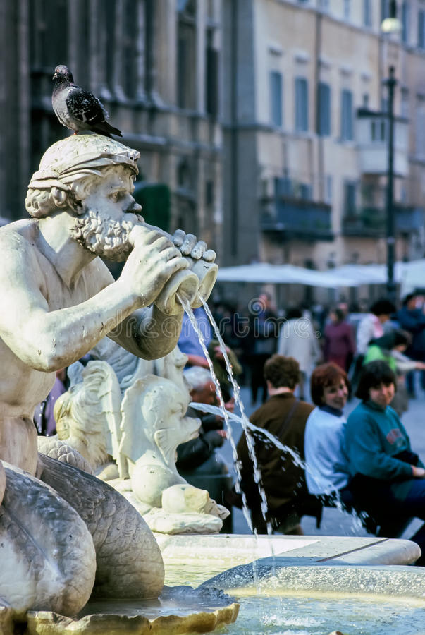Fontana del Moro bij Piazza Navona in Rome royalty-vrije stock foto