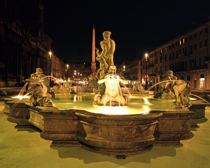 Fontana del Moro, Roma imagem de stock