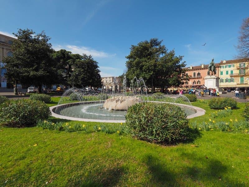 Fontana del reggiseno della piazza a Verona fotografia stock libera da diritti