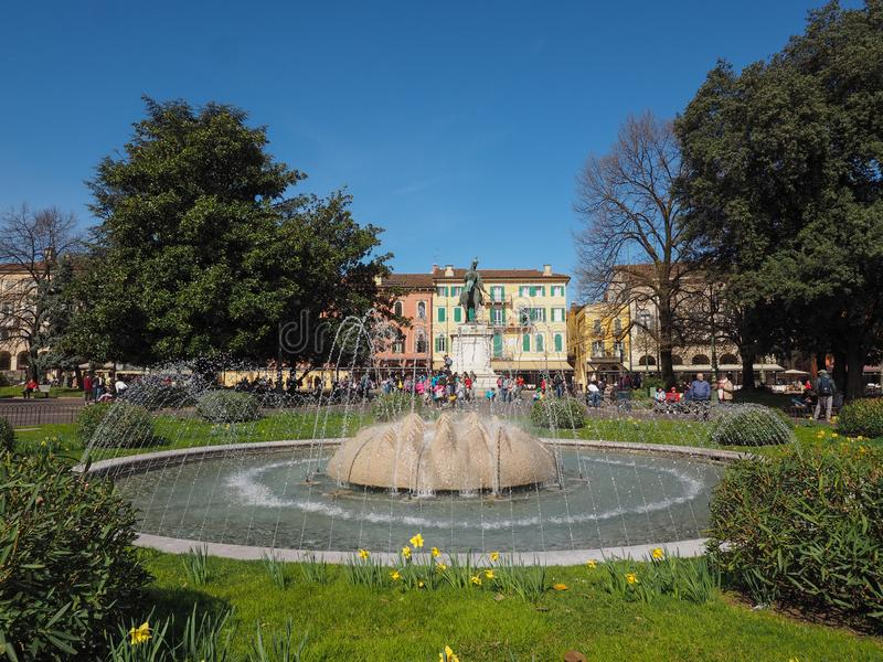 Fontana del reggiseno della piazza a Verona immagini stock libere da diritti