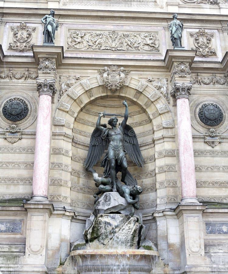 Fontana del Saint Michel immagine stock