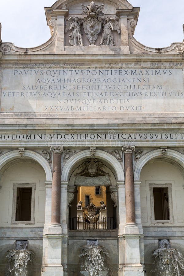 Download The Fontana Dell`Acqua Paola Also Stock Photo - Image of fontana, fresh: 76273078