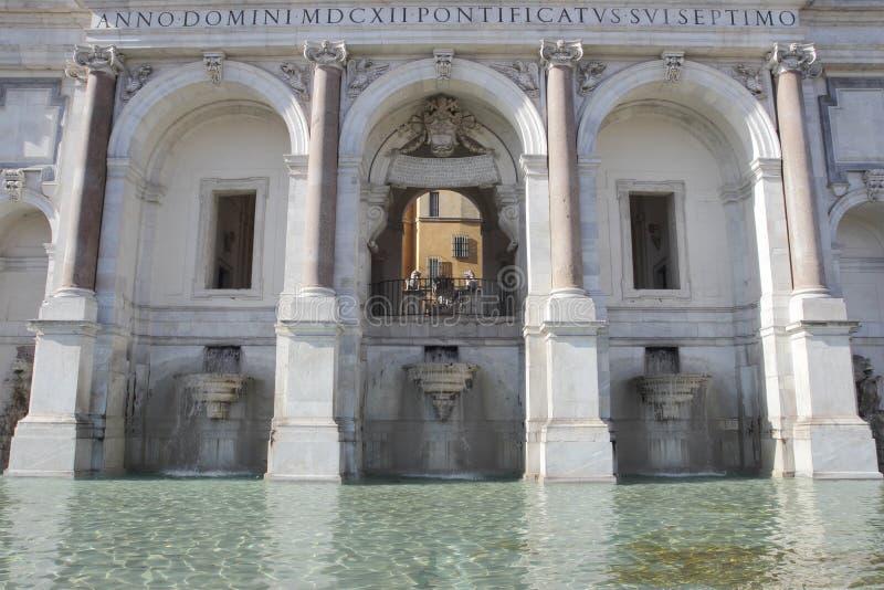 Fontana dell'Acqua Paola w Rzym fotografia royalty free