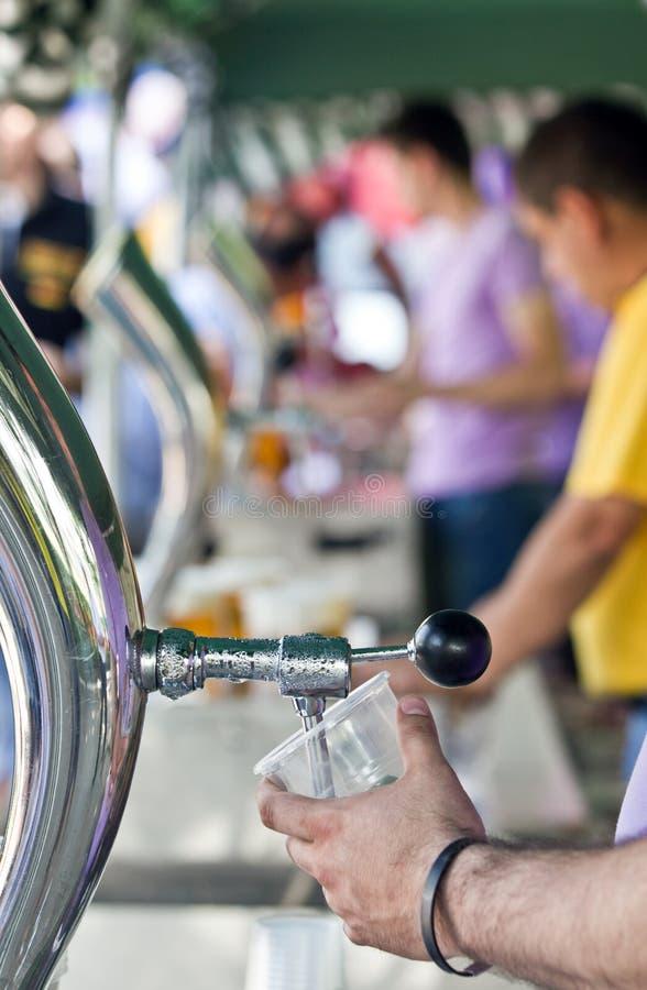 Fontana della birra fotografia stock
