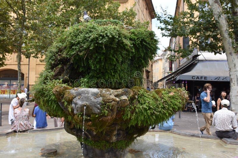Fontana della pianta in Salon de Provence fotografia stock