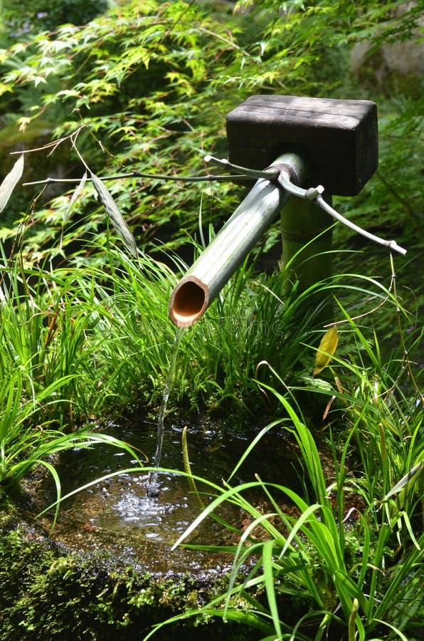 Fontana di bambù giapponese fotografie stock libere da diritti