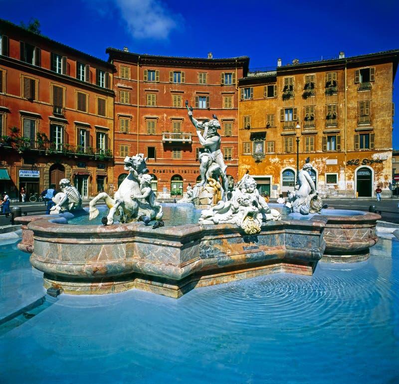 Fontana di Bernini, piazza Navona, Roma immagine stock libera da diritti