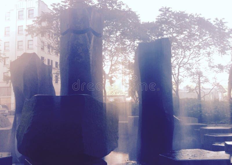 Fontana di Chinatown Stonehenge immagine stock