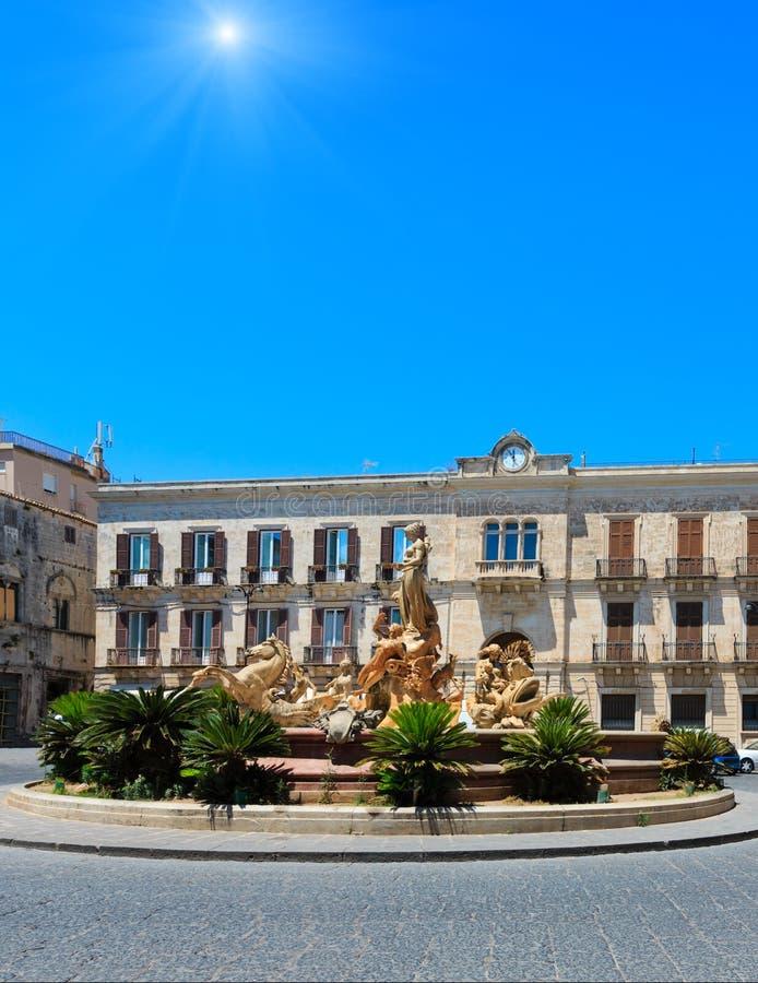 Fontana di Diana, Siracusa, Sicilia, Italia fotografie stock