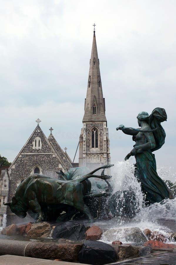 Fontana di Gefion. Copenhaghen. fotografia stock