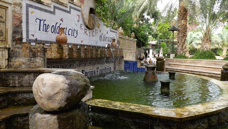 Fontana di Gerico in Israele immagine stock