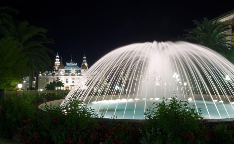 Fontana di Monte Carlo fotografia stock libera da diritti