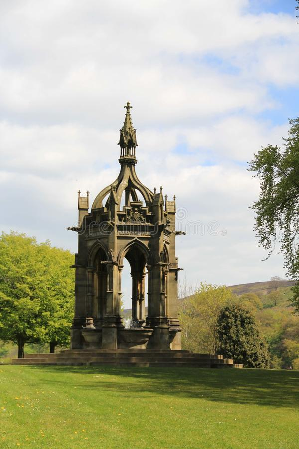 Fontana di monumenti Cavendish, Abbey Estate di Bolton, Yorkshire fotografia stock