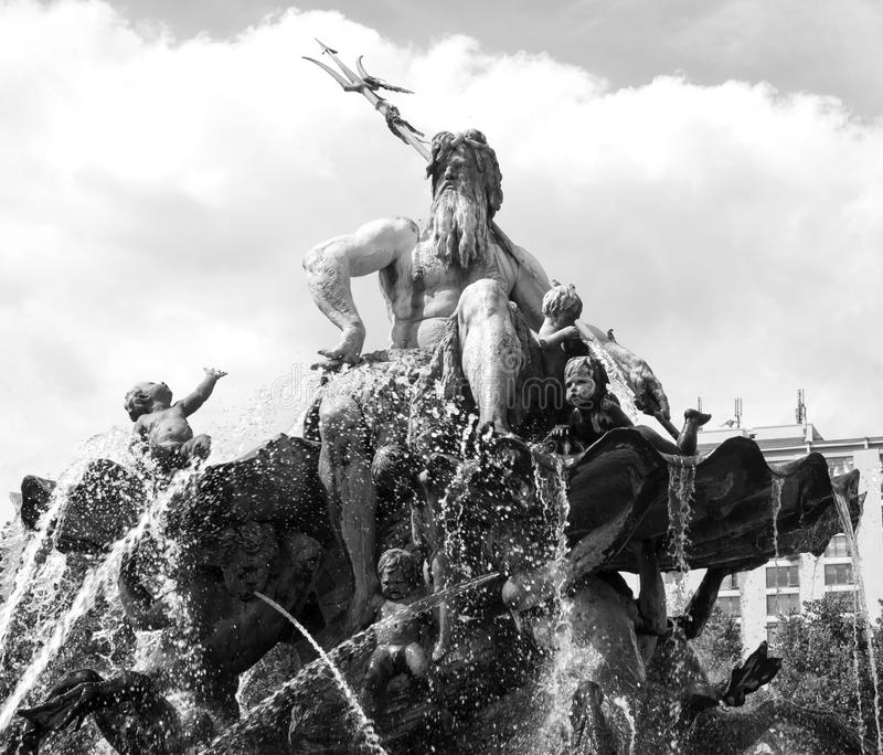 Fontana #01 di Neptun fotografia stock libera da diritti