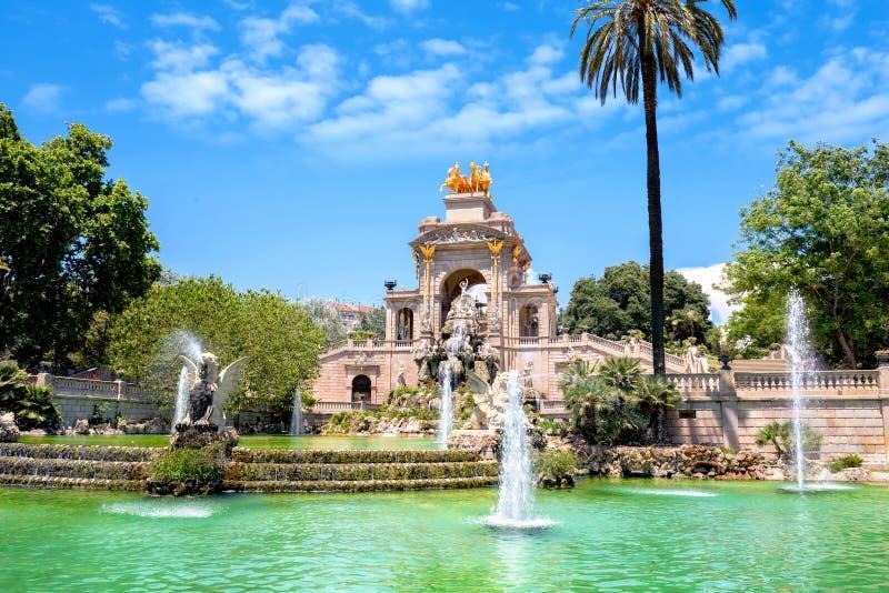 Fontana di Parc de la Ciutadella a Barcellona, Spagna fotografia stock