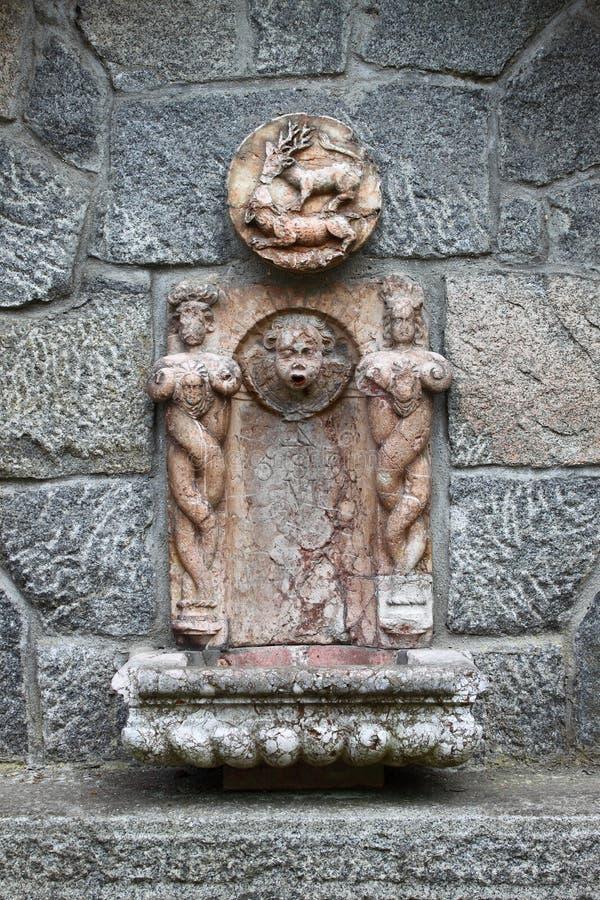 Fontana di parete barrocco fotografie stock