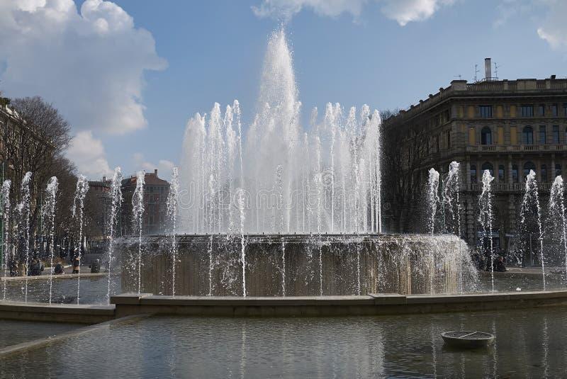 Fontana Di Piazza Castello zdjęcie royalty free