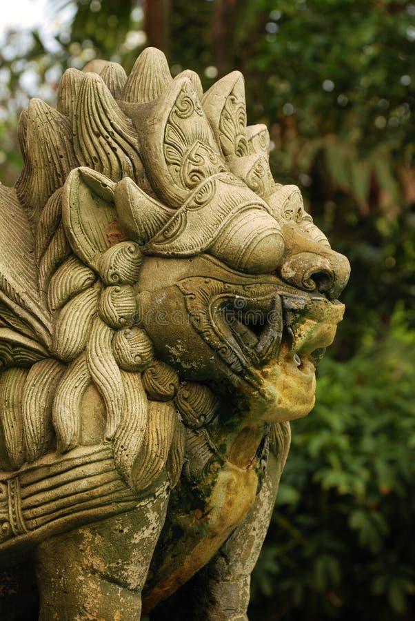 Fontana di pietra del leone della sabbia fotografie stock