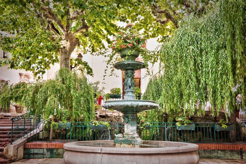 Fontana di Provencal, Bandol Francia fotografia stock