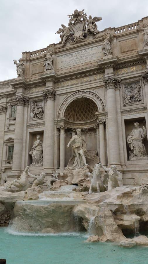 Fontana di trevi罗马意大利 免版税库存照片