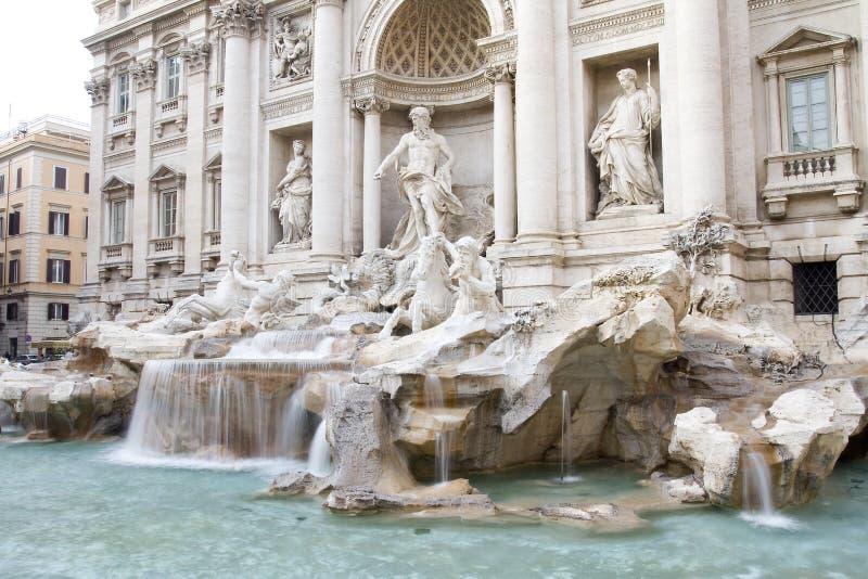 Fontana di Trevi,罗马 图库摄影