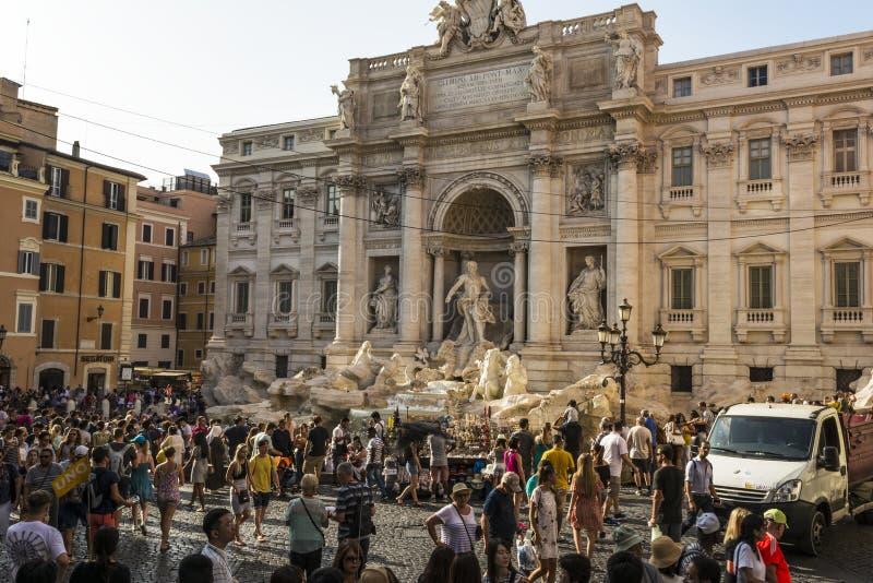 Fontana Di TREVI - πηγή TREVI, Ρώμη, Ιταλία στοκ εικόνα με δικαίωμα ελεύθερης χρήσης