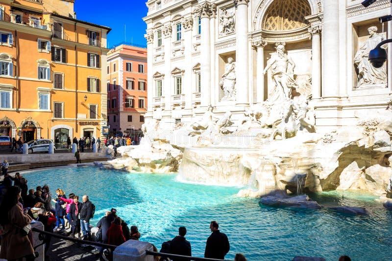 Fontana Di TREVI Ρώμη, Ρώμη στοκ εικόνες