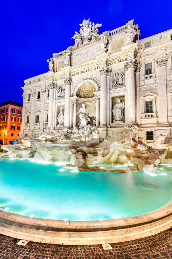 Fontana Di TREVI στη Ρώμη, Ιταλία στοκ εικόνα
