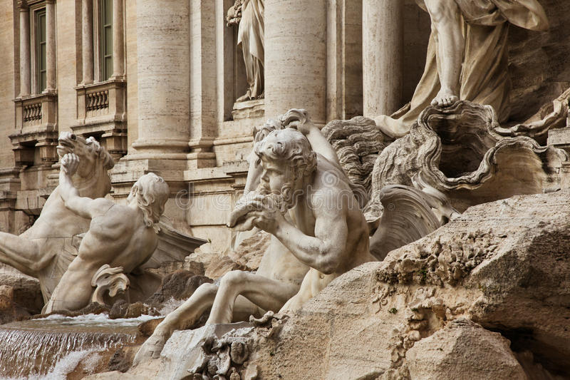 Fontana di Trevi. Rome, Italy stock photography