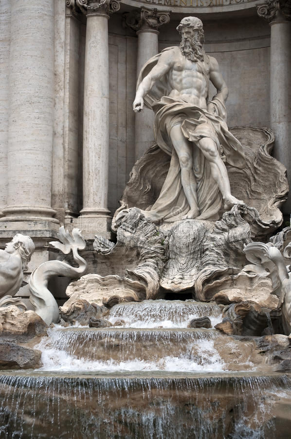 Fontana di Trevi. Rome, Italy.Details royalty free stock images