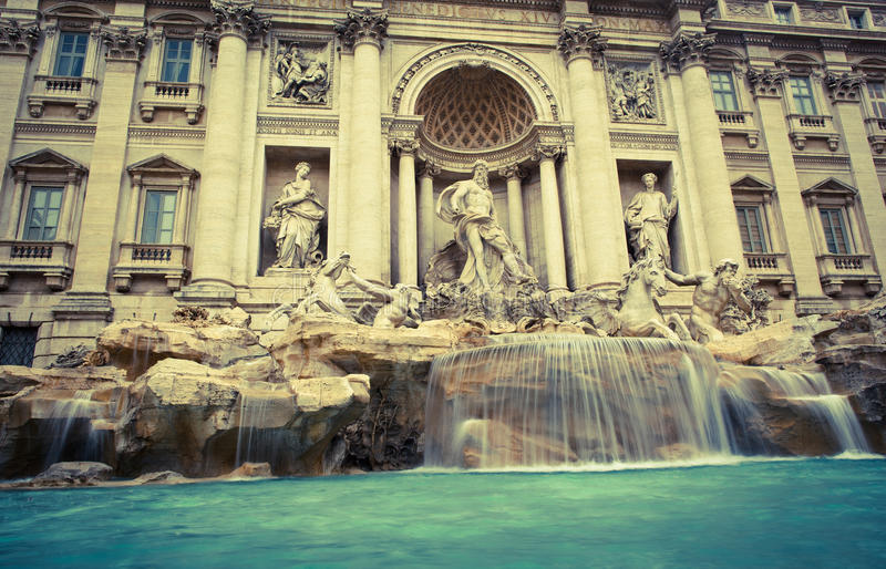 Fontana di Trevi fotografia de stock