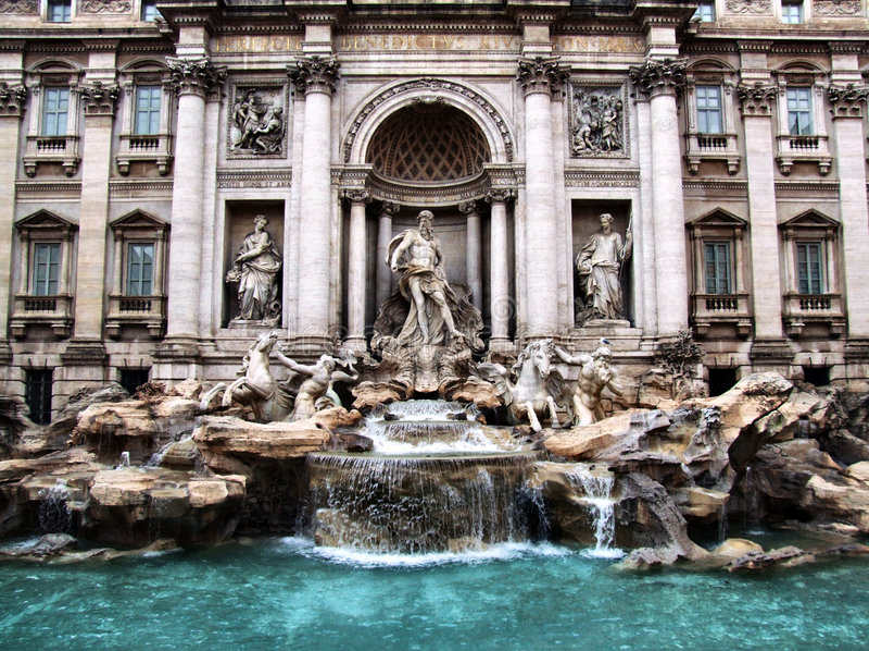 Fontana di Trevi fotografie stock libere da diritti