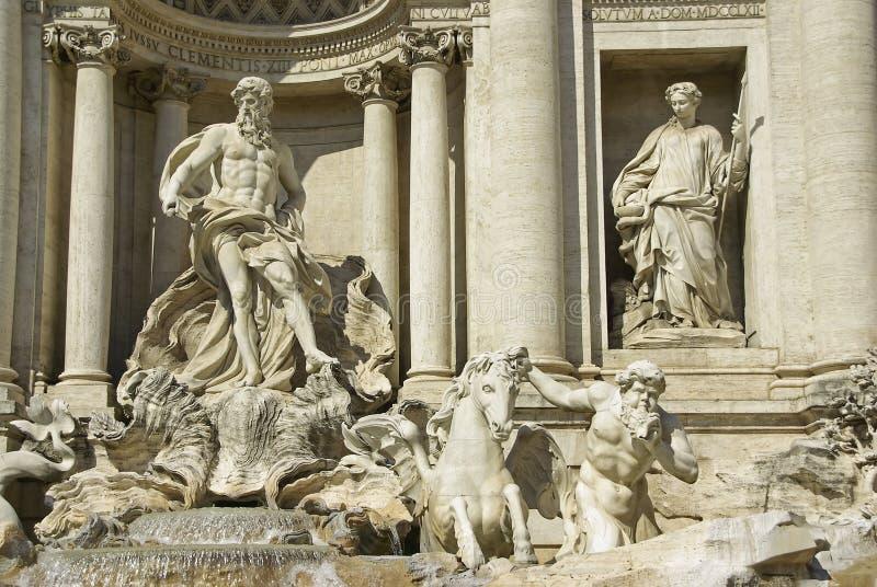 Fontana di Trevi arkivfoton