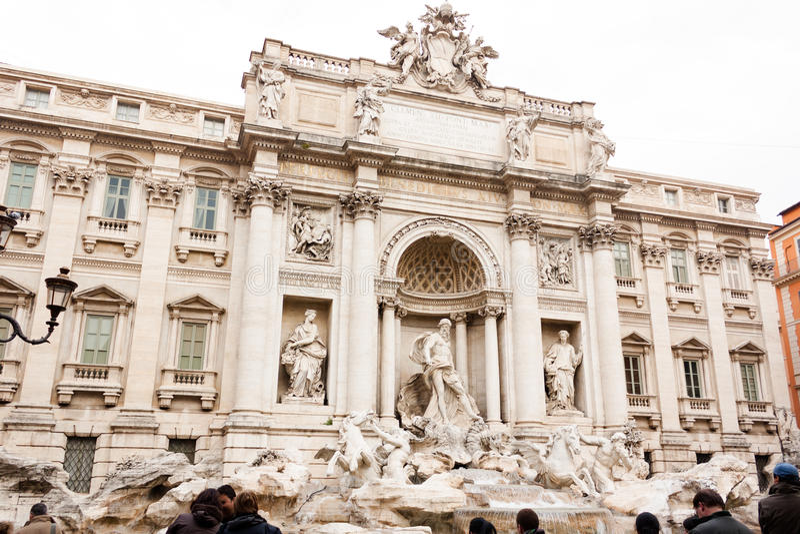 Fontana Di Trevi royalty-vrije stock foto