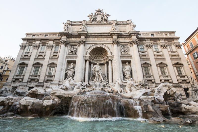 Fontana di Trevi. Architectural complex of the Fontana di Trevi in Rome stock photos