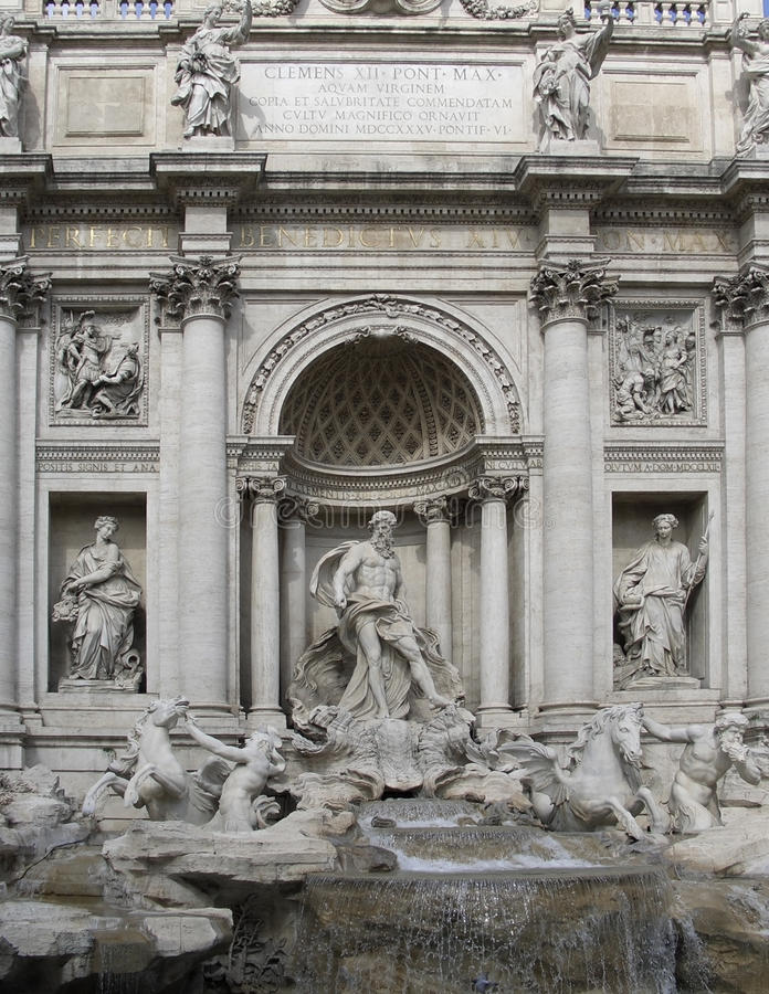 Download Fontana di Trevi detail stock image. Image of feature - 26660693