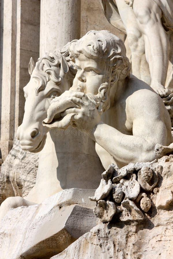 Fontana di Trevi, detail, Rome, Italy stock photo
