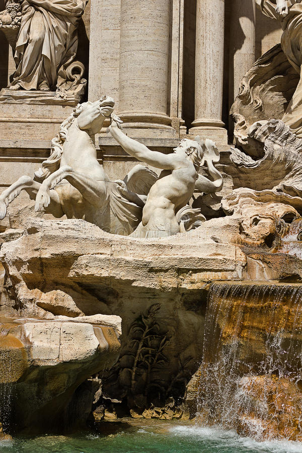 Fontana Di Trevi Em Roma Itália Foto de Stock