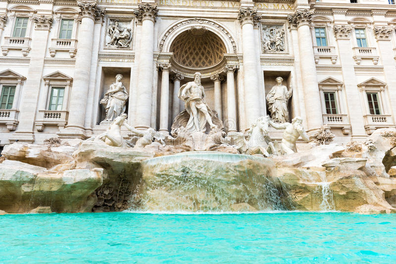 Fontana di Trevi. The Trevi Fountain Italian: Fontana di Trevi in Rome, Italy is the largest Baroque fountain in the city and one of the most famous fountains in royalty free stock images