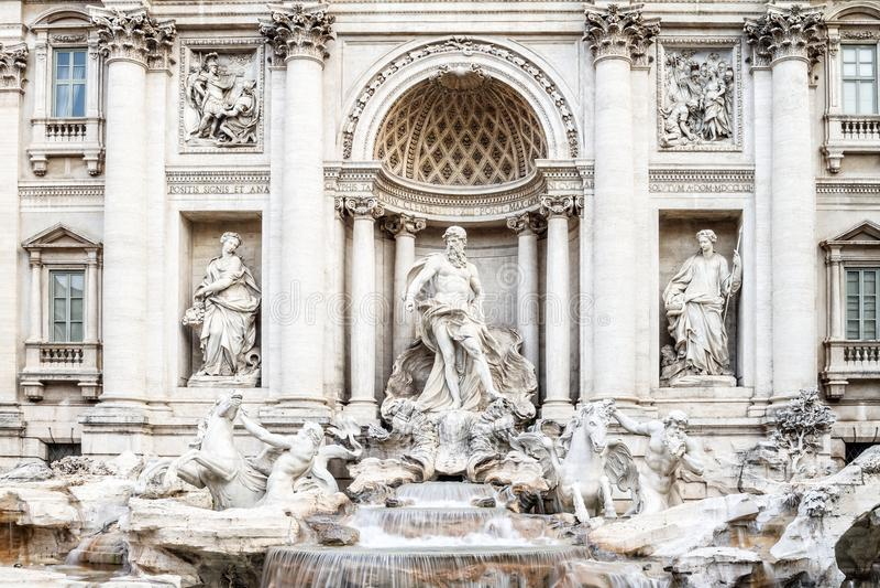 Fontana di Trevi. The Trevi Fountain (Fontana di Trevi) in Rome, Italy stock photos