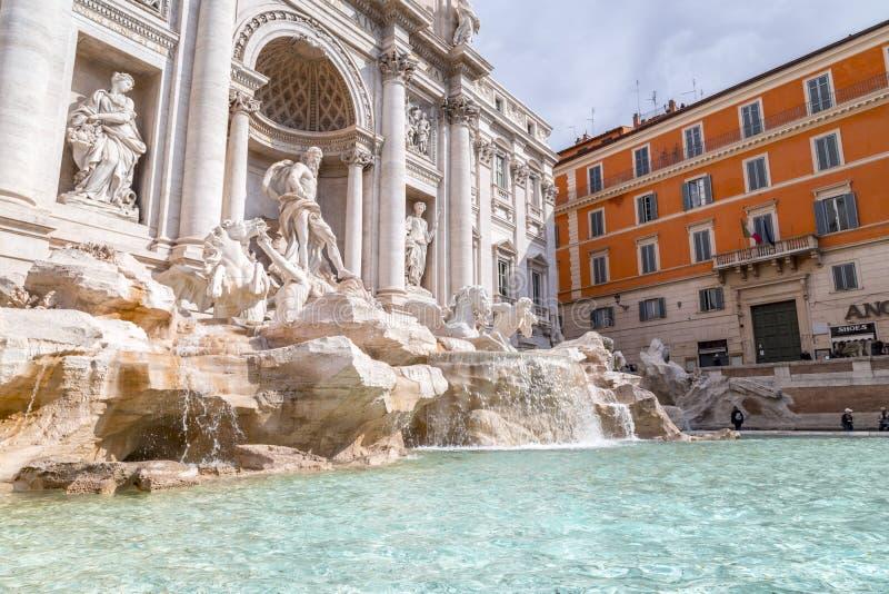 Fontana di Trevi o Fontana di Trevi al Trevi della piazza, Roma fotografia stock